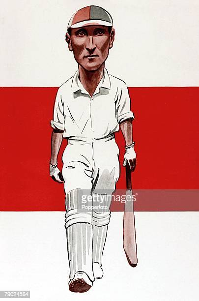 Sport Illustration, Cricket, Australia Drawing of Douglas Robert Jardine, Oxford University Blue, Captain of Surrey and England, During the 1932-3...