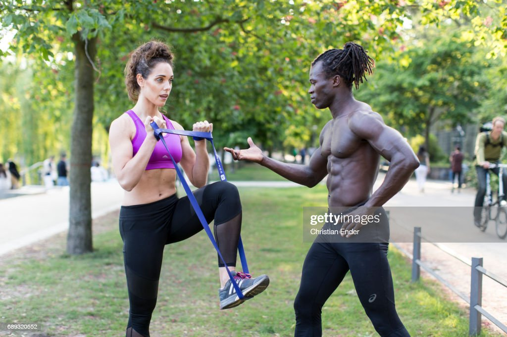 sport in a park : Stock Photo
