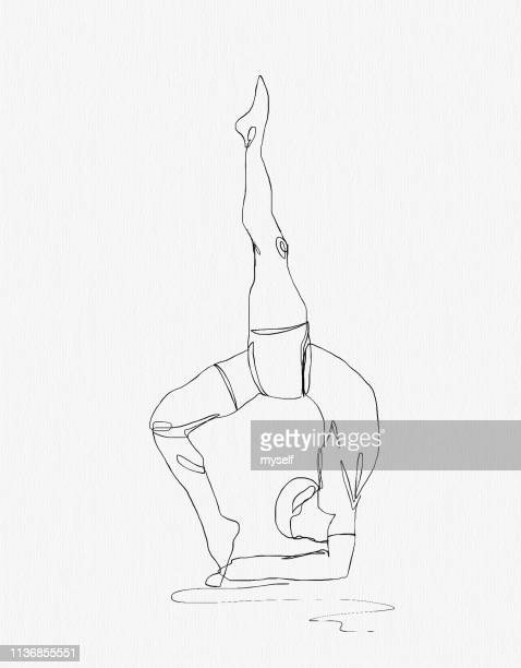 Sport man engaged in yoga