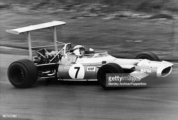 Sport Motor Racing 16th March 1969 Brands Hatch Race of Champions Great Britain's Jackie Stewart driving a Ford powered French Matra the winner of...