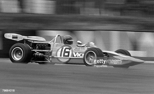 Sport Motor Racing Brands Hatch England 30th August 1971 Sweden's Ronnie Peterson in his MarchFord car en route to winning the 40 lap 108 mile...