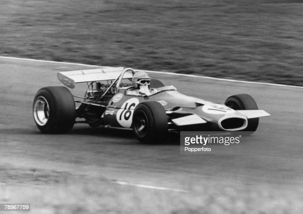 Sport Motor Racing England Australian Grand Prix driver Jack Brabham driving a Brabham Ford BT33
