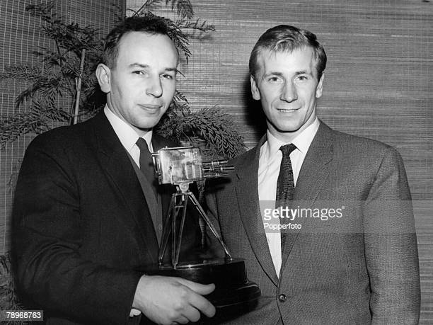 Sport, Motor Racing, England, December 1959, John Surtees, World Motorcycling Champion wins the BBC television Sports Personality of the Year award,...