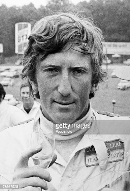 Sport Motor Racing Formula One 16th July 1970 British Grand Prix at Brands Hatch The eventual winner of the British Grand Prix Austria's Jochen Rindt...