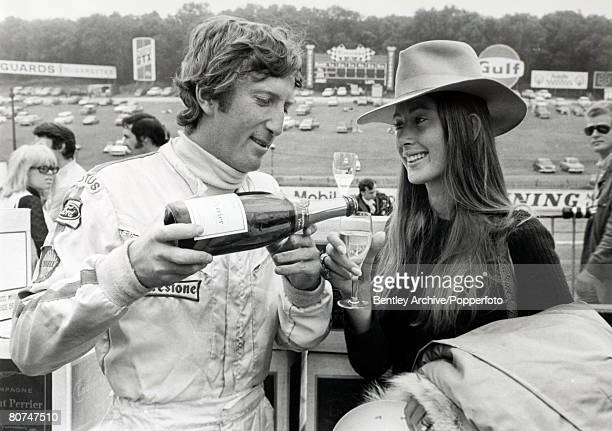 Sport Motor Racing Formula One 18th July 1970 British Grand Prix at Brands Hatch The eventual winner of the British Grand Prix Austria's Jochen Rindt...