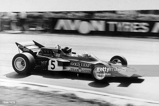 Sport Motor Racing Formula One July 1970 British Grand Prix at Brands Hatch The eventual winner of the British Grand Prix Austria's Jochen Rindt...