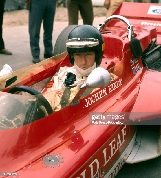 1970 Austrian driver Jochen Rindt at the the wheel of the Lotus Ford Jochen Rindt was Formula Ones first posthumous world champion after he was...
