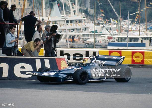 1971 Monaco Grand Prix at Monte Carlo Great Britain's Jackie Stewart on his way to victory in the Tyrrell Ford Jackie Stewart a Scot was Formula One...