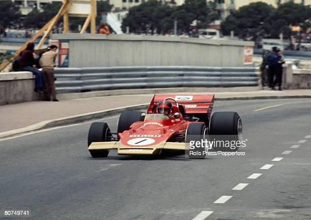 1971 Monaco Grand Prix Brazilian driver Emerson Fittipaldi driving the Lotus Emerson Fittipaldi was the Formula One Drivers World Champion twice in...