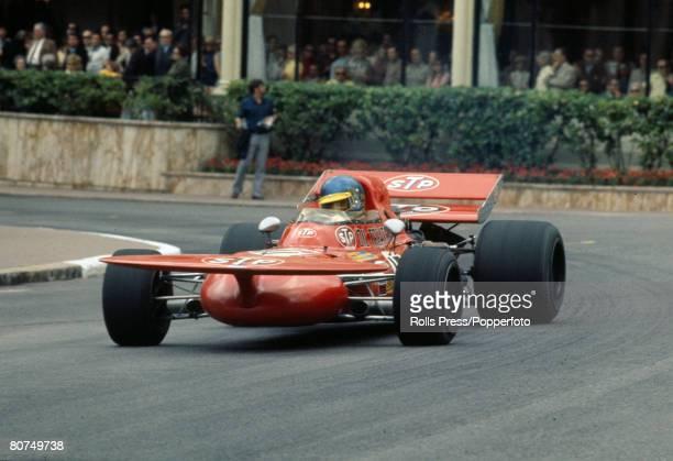 1971 Monaco Grand Prix Ronnie Petersen Sweden in the STP March car
