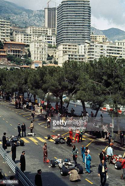 1971 Monaco Grand Prix The cars line up for the start of the race through the streets of Monte Carlo