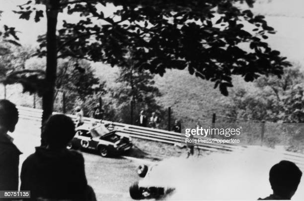 1st August 1976 The German Grand Prix at the Nuerburgring Austria's Niki Lauda suffered serious burns in this crash when his Ferrari caught fire Niki...