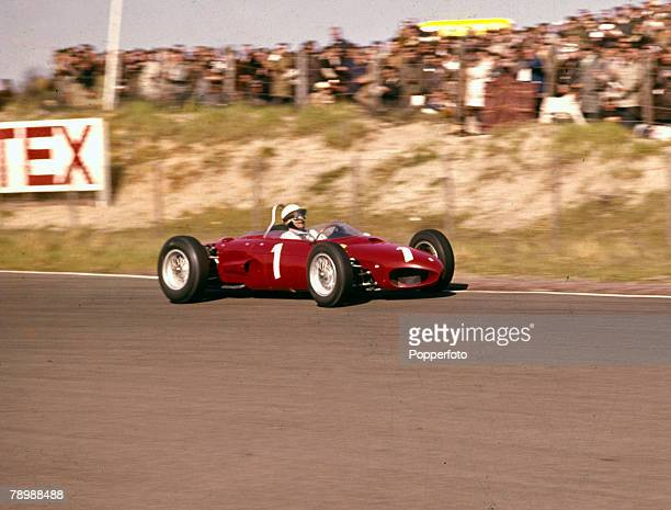 20th May 1962 Dutch Grand Prix at Zandvoort Phil Hill USA placed 2nd in the Ferrari Phil Hill won the World Championship in 1961
