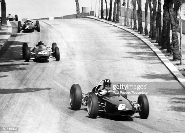 27th May 1963 Monaco Grand Prix Great Britain's Graham Hill in the BRM car leads and going on to win the race Graham Hill was Formula One world...