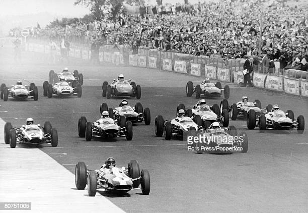 August 1963 German Grand Prix at Nuerburgring Great Britain's John Surtees leads the field at the start and he went on to take 1st place John Surtees...