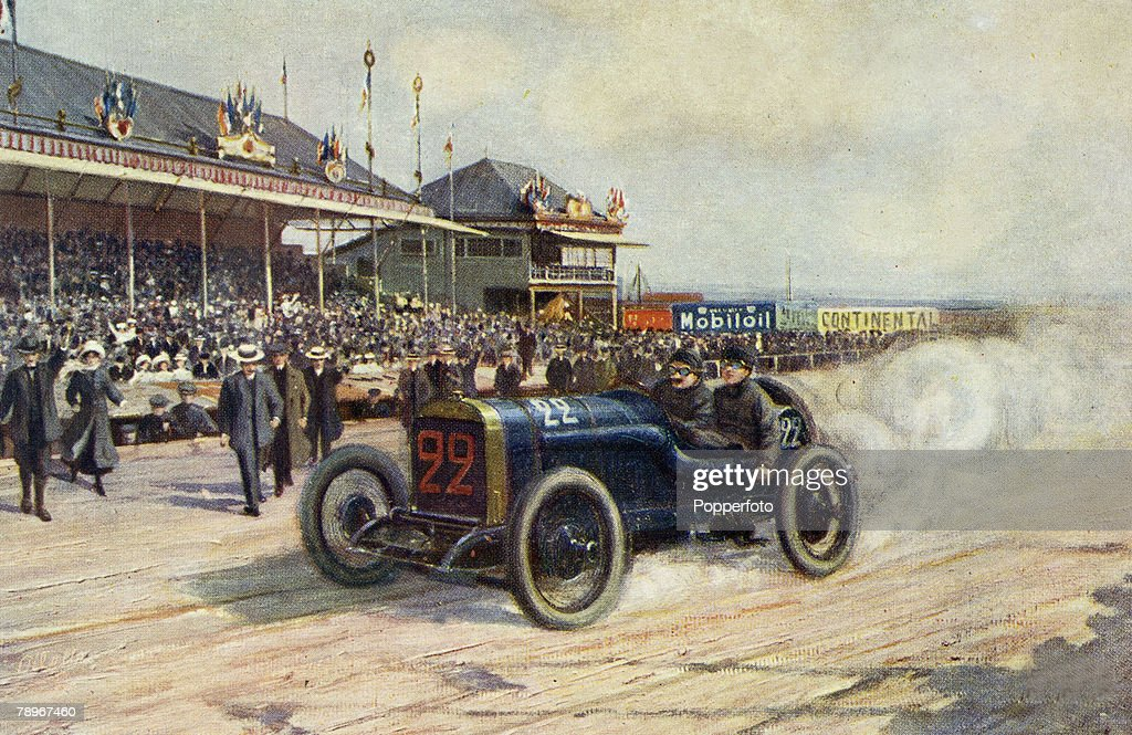 Sport. Motor Racing. pic: 1912. The French Grand Prix held at Dieppe in 1912. : News Photo