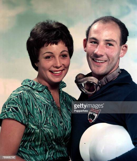 Sport Motor RacingBritish racing driver Stirling Moss with his fiancee Katie Molson 1957
