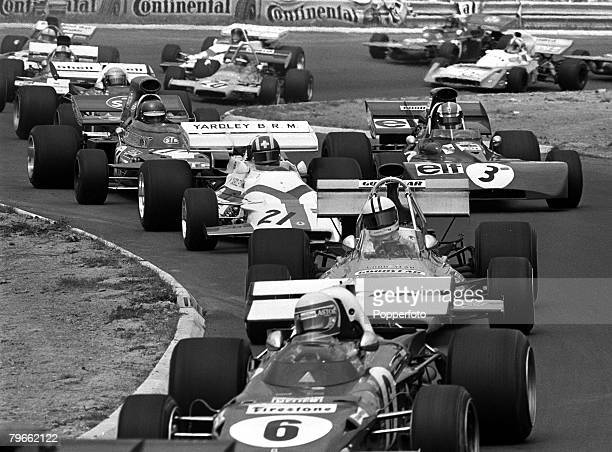 Sport MotorRacing West Germany 3rd August 1971 Formula One German Grand Prix The crowded South curve during the race at the Nurburgring which was won...