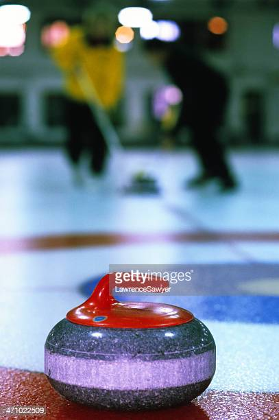 sport of curling in action