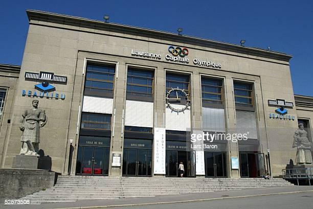 Sport / Olympia Vorauswahl der Staedte Kandidaten fuer Olympia 2012 Lausanne Eingang des Palais de Beaulieu in Lausanne 180504