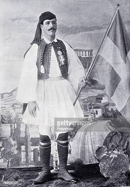 Sport Olympic Games 1896 Athens Greece Spyridon Louis Greek gold medalist in the Marathon
