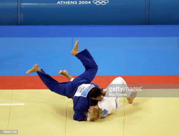 Sport, Olympic Games, Athens, Greece, 19th August 2004, Judo, Men's 100 kg Bronze Medal Contest, Ariel Zeevi of Israel v Elco van der Geest of Holland