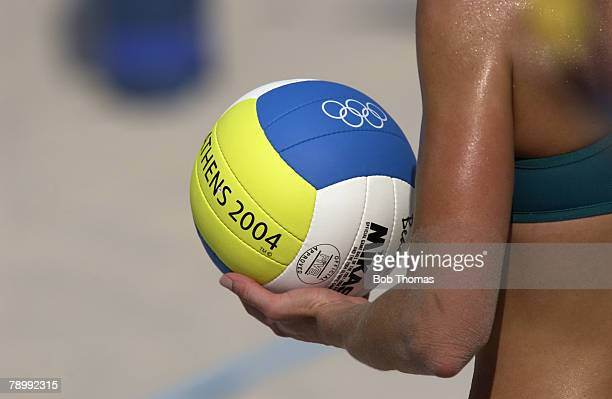 Sport, Olympic Games, Athens, Greece, 20th August 2004, Beach Volleyball, Women, Pool Match, Natalie Cook & Nicole Sanderson of Australia v Summer...