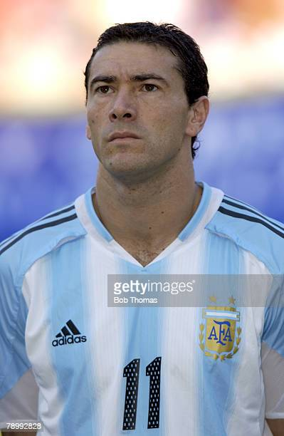 Sport Olympic Games Athens Greece 24th August 2004 Football Mens SemiFinal Italy 0 v Argentina 3 Cristian Gonzalez of Argentina