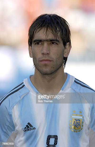 Sport Olympic Games Athens Greece 24th August 2004 Football Mens SemiFinal Italy 0 v Argentina 3 Cesar Delgado of Argentina