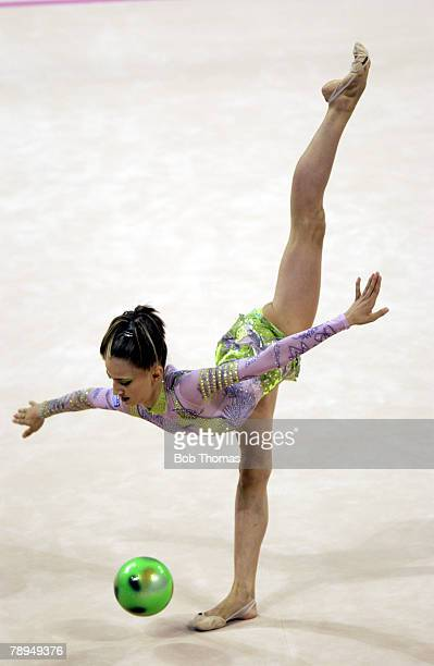 Sport Olympic Games Athens Greece 26th August 2004 Rhythmic Gymnastics Theodora Pallidou of Greece