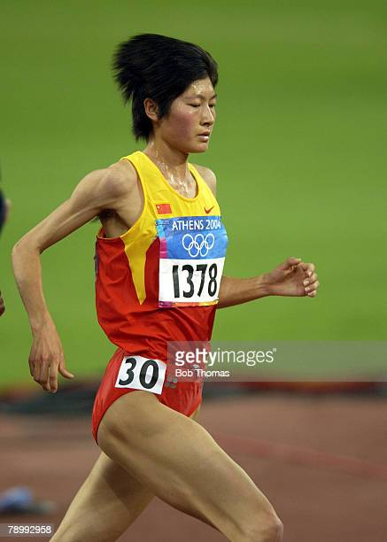 Sport Olympic Games Athens Greece 27th August 2004 Athletics Womens 10000 Metres Final Gold medal winner Huina Xing of China
