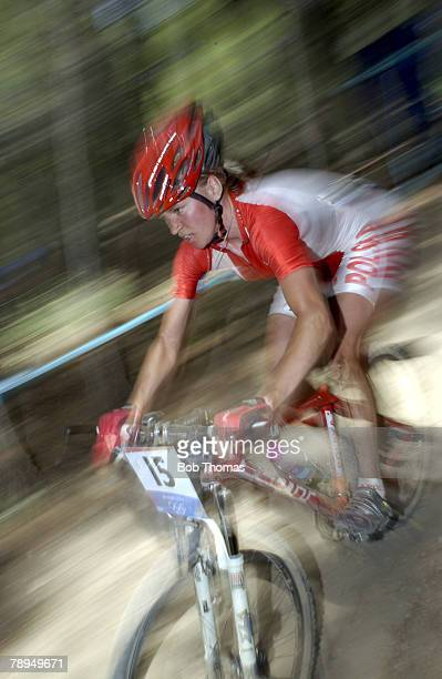 Sport, Olympic Games, Athens, Greece, 27th August 2004, Cycling, Women, Cross Country Mountain Bikes, Anna Szafraniec of Poland
