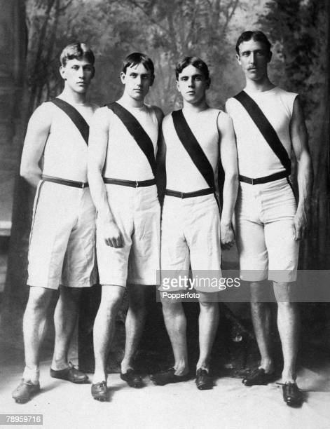 Sport, Olympic Games, Princeton University, USA 1897, Athletes who competed in the first modern Olympic Games in Athens in 1896, L-R; Albert Tyler,...