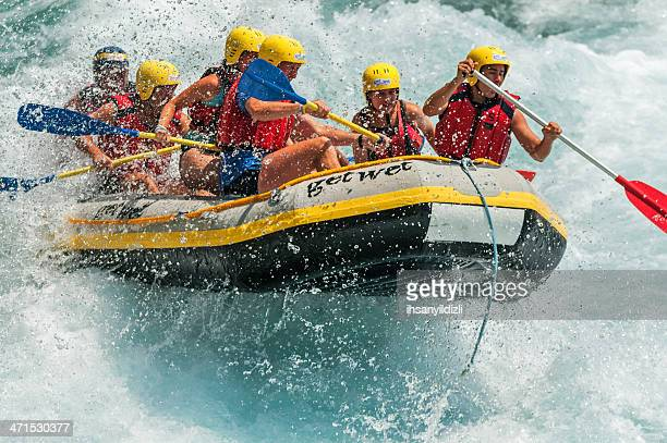 sport on water - rafting stock pictures, royalty-free photos & images