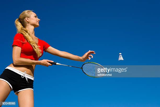 sport - badminton stock photos and pictures