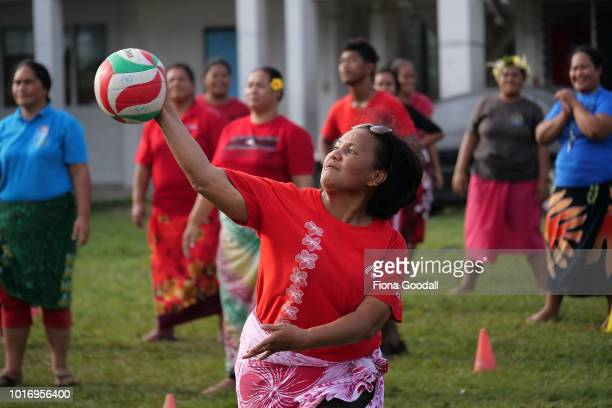 Sport plays a huge role in daily island life on August 15 2018 in Funafuti Tuvalu Teams from the ministry of education and the office of the Prime...