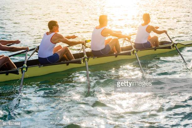 Sport rowing on a lake