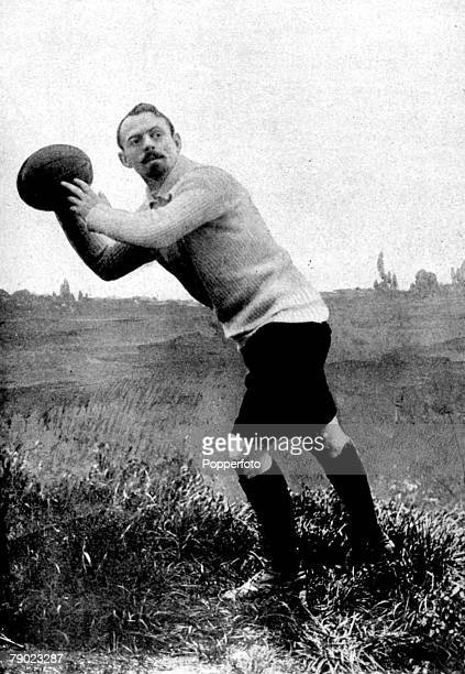 """Sport, Rugby, 1900 Olympic Games, Paris, France, Frantz Reichel, who played for France in the Rugby """"Round Robin"""" tournament in the 1900 Olympics,..."""