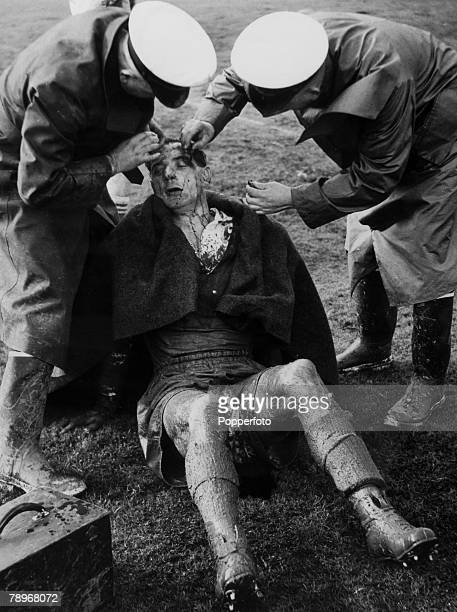 12th June 1950 Rugby League Test Match at Sydney Cricket Ground Australia 4 v England 6 An England player receives attention for a cut head