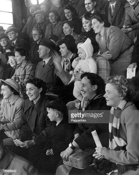 1950 Workington Cumberland Wives Girlfriends fiancees children even babies all family of the players at a Workington home match regular visitors at...