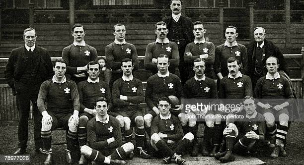 Sport Rugby Union 16th December 1905 Wales 3 v New Zealand 0 at Cardiff The Welsh team that defeated the mighty All Blacks to become the unoffical...