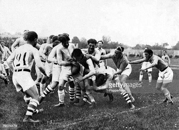 Sport Rugby Union 1924 Olympic Games Paris France USA v Romania Action during the match The Americans went on to win the competion by beating France...