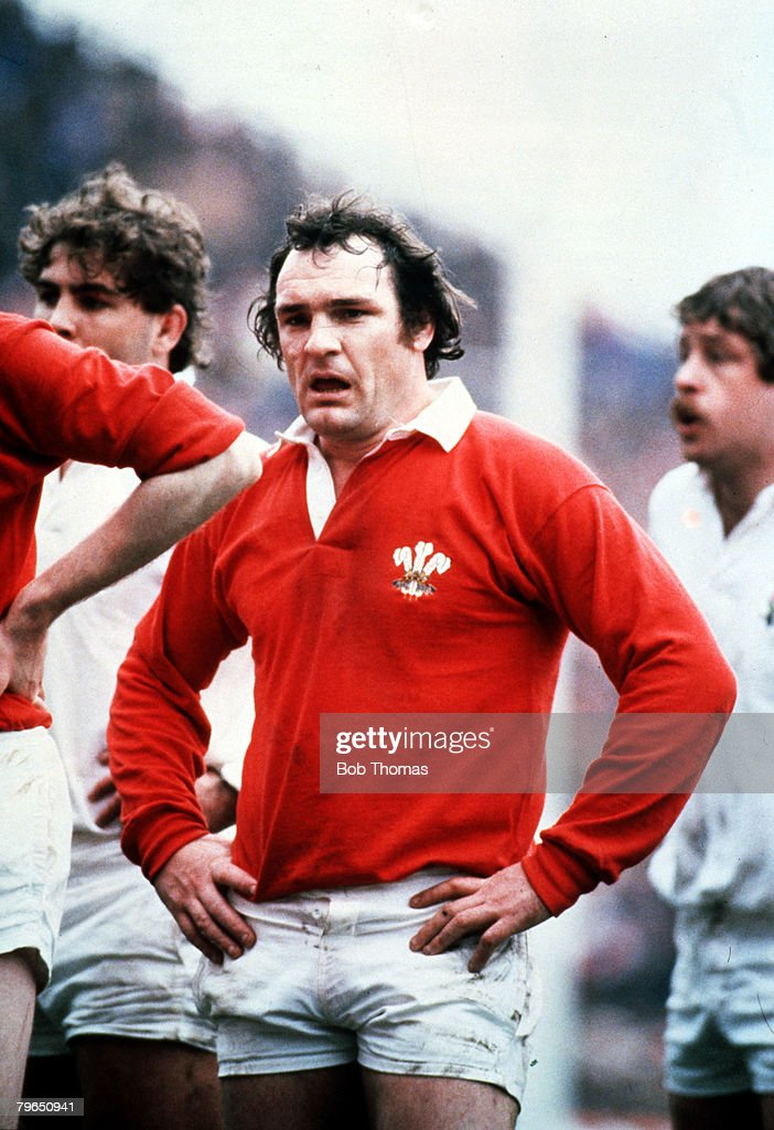 Sport, Rugby Union, Five Nations Championship, Twickenham, 6th March 1982, England 17 v Wales 7, Clive Burgess of Wales : News Photo