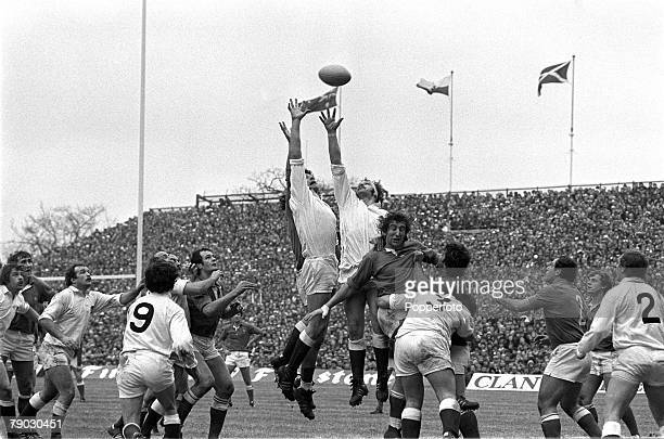 Sport, Rugby Union International, Five Nations Championship, Twickenham, 3rd March 1979, England 7 v France 6, England's Nigel Horton and Bill...