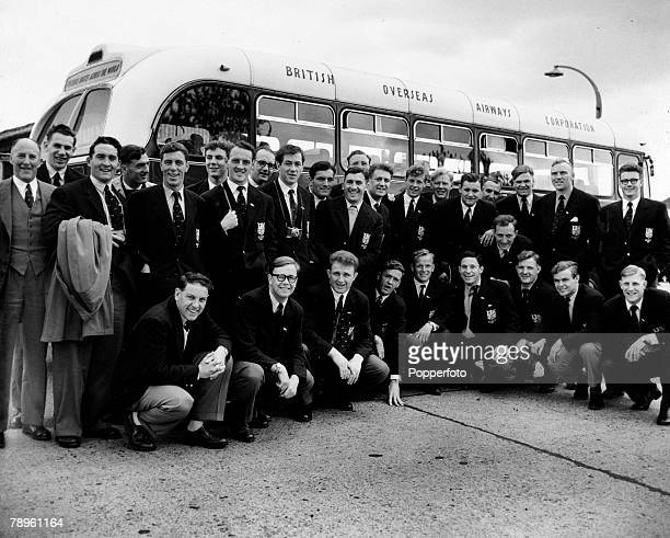 10th June 1955 London Airport The British Isles team prior to leaving for their tour of South Africa