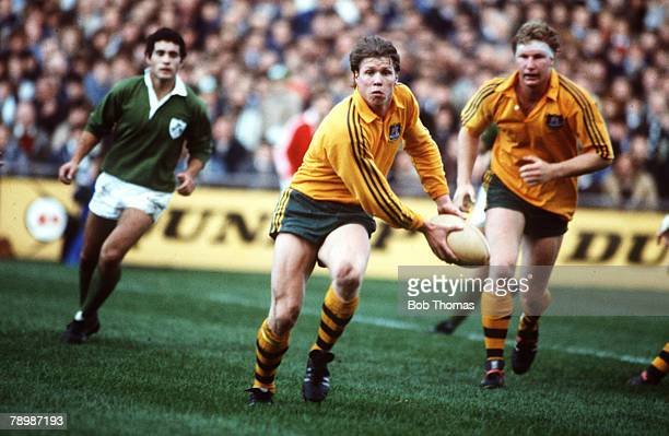 10th November 1984 International Match in Dublin Ireland 9 v Australia 16 Nick FarrJones Australia scrum half