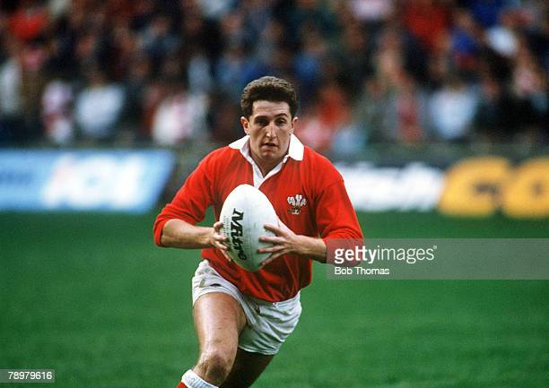 12th November 1988 Wales 28 v Western Samoa 6 in Cardiff Jonathan Davies Wales Jonathan Davies a fly half played for Wales from 19951997 winning 32...