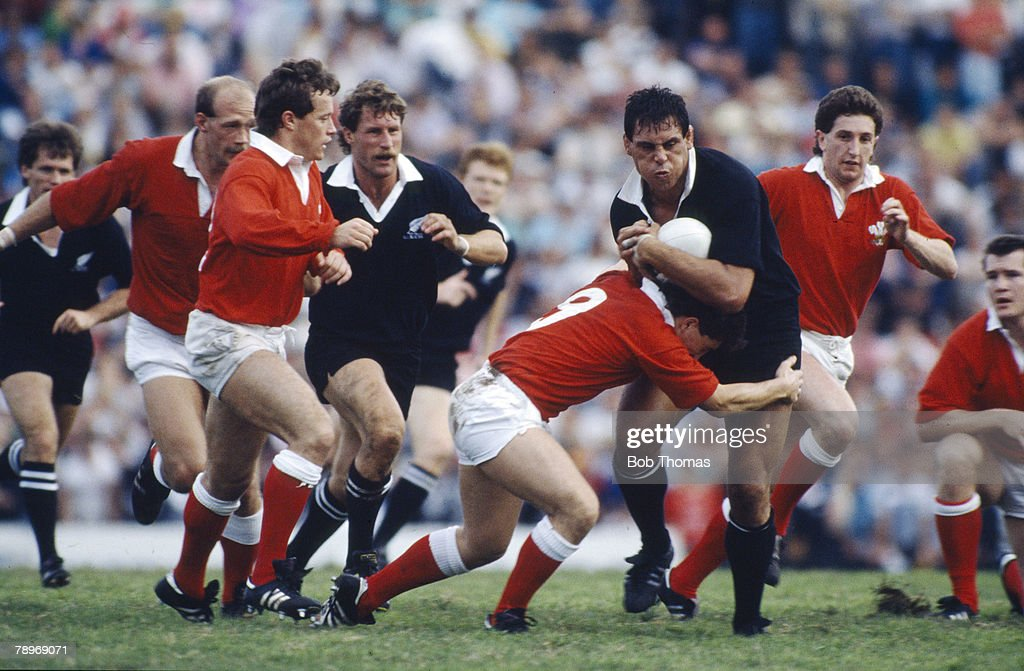 Sport. Rugby Union. pic: 14th June 1987. Rugby Union World Cup Semi-Final in Brisbane. New Zealand 49 v Wales 6 : Photo d'actualité