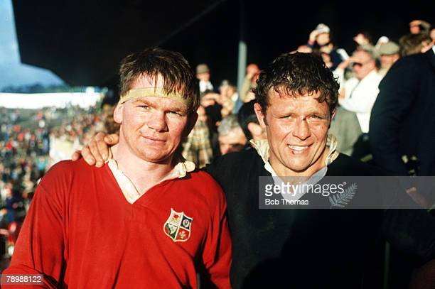 16th July 1983 British Lions Tour of New Zealand 4th Test in Auckland New Zealand 38 v British Lions 6 British Lions captain Ciaran Fitzgerald and...