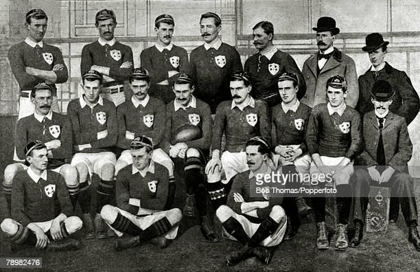 1898 The Ireland team that beat England 9 6 at Richmond Ireland players PObrienButler FPurser SLee LHGwynn LBulger CAllen LMagee JRyan MRyan HLindsay...